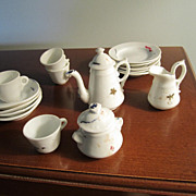 REDUCED Doll Dishes, Tea Set, Porcelain, Old, Vintage