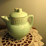 TEA Pot, Salada Tea Pot, Vintage, Mint Green, Advertising