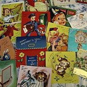 SOLD CARDS, Vintage Birthday/Get Well/Assorted, Lot of 29 Pieces, Children