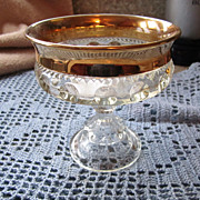 REDUCED COMPOTE, Elegant Glass, Circa Thirties, Mint