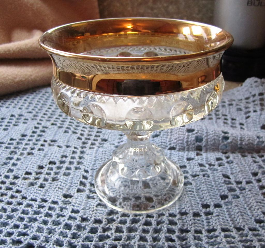 COMPOTE, Elegant Glass, Circa Thirties, Mint