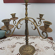 SOLD CANDELABRA, five Candles, Brass, Vintage