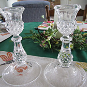 CRYSTAL Candle Holders, Elegant L' Champs, Crystal, BEAUTIFUL
