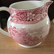REDUCED PITCHER, Pink Transfer, Marked, Mint  Condition