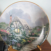 PLATE, Collect Plate, Thomas Kinkade.1991.Premier Issue of England Garden Cottages