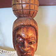 WOOD Tiki Head, Estate Souvenir Item