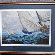 PRINT, Sailing Print, by Donald Curley, Wonderful Action Print