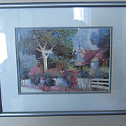 PRINT, Garden scene, 8 x 10, Perfect Accent Item, Stunning, Cottonwood Lane