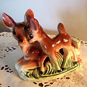 DEER Ashtray/Planter, Bambi and Mom, Numbered, Adorable