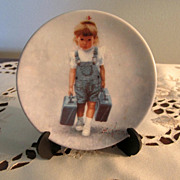 PLATE, Miniature Plate, Zolan, Adorable Little Girls