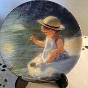 MINIATURE Plate, Porcelain, 3&quot; decorative Plate, Sweet