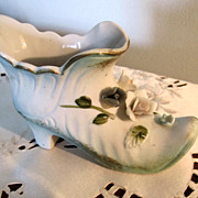 SHOE, Bisque, Porcelain , A Great Estate Find, Victorian Style Slipper
