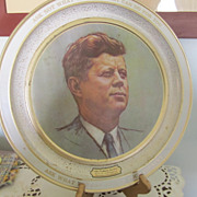 Tray, KENNEDY, John F. Collector Tray, 12&quot; Metal