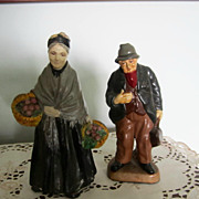 CHALKWARE, Old Man/Old Woman, Extremely Vintage