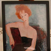 PICTURE, Red Headed Woman, Parisian Style