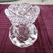 CRYSTAL, Toothpick Holder, Estate Sale Find, Beautiful