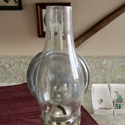 LAMP,Oil Lamp, Vintage, w/wall Reflector, Ready to Hang!
