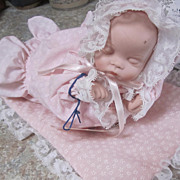 DOLL, Porcelain and Cloth, Musical, Sleeping Precious, animated