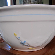 "BOWL, Pottery, White Bowl w/Goose, 6 1/2"" Great for Everything"