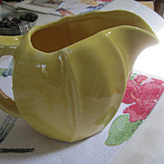 MCCOY Pottery Pitcher, Sunny Yellow - Great Shape