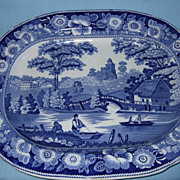 Nice antique Fell & Co. Wild Rose Nuneham Courtenay platter,