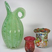 SALE Murano Glass Two Pieces Plus