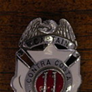 SOLD Contra County Captains Badge