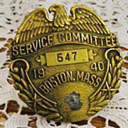 SOLD Badge Special Committee Boston Mass.