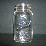 Ball Canning Jar  ~ Perfect Mason Quart ~ 1923-1933