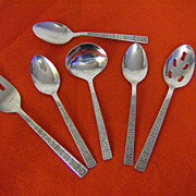 Imperial Stainless Serving/Hostess Set ~ Serta Pattern ~ Korea