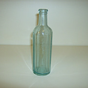 Aqua 12 Sided Bottle ~ 1928 ~ Owens Bottle Company
