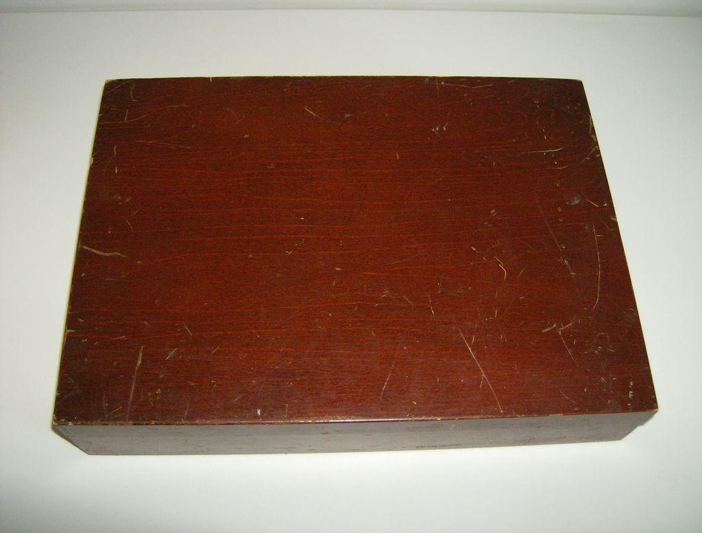 Vintage Wood Silverware Flatware Storage Box Chest from ...