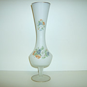 Hand Painted ~ Satin Glass Vase