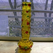 Amber Glass Bud Vase