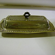 Laben Silver Plate Butter Dish with Glass Insert