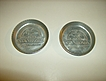 1950's Aluminum Stanhome Coasters Set of 2