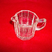 Pressed Glass Mini Creamer