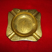 Etched Brass Ashtray Made in India