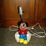 Mickey Mouse Table Lamp ~ Walt Disney ~ 1960's