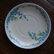 Limoges Forget Me Not Saucer
