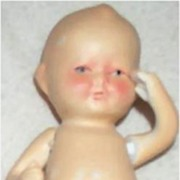 "4 1/2"" All-Bisque Baby from 1930s Japan"