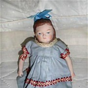 "SALE Cute 7"" Porcelain Child in Vintage Dress"