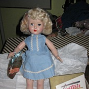 "SALE 14"" Effanbee Tintair Doll in Box With Hair Coloring kit 1950s"
