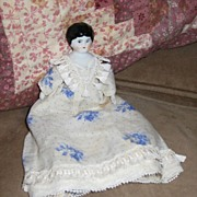 "6"" German China Head Doll in Lovely Dress"