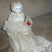 "SALE 8 1/2"" Blond Flat Top China Head Doll"