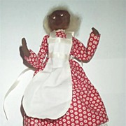 "Cute 8"" African-American Doll in Original Clothes 1980s"