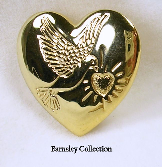 Variety Club Heart Brooch Pin In Gold Tone From Maudees On