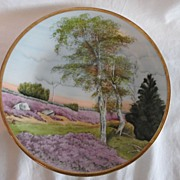 REDUCED Prussia Royal Rudolstadt Hand Painted Country Scene Plate
