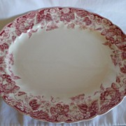"REDUCED Lovely Johnson Bros. ""Strawberry Fair""  12"" Oval Platter"