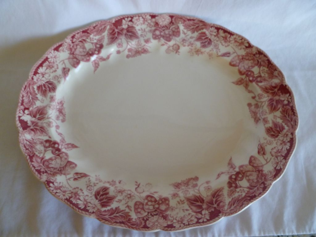"Lovely Johnson Bros. ""Strawberry Fair""  12"" Oval Platter"